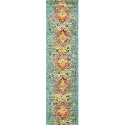 Boston Turquoise Area Rug Rug Size: Runner 27 x 10