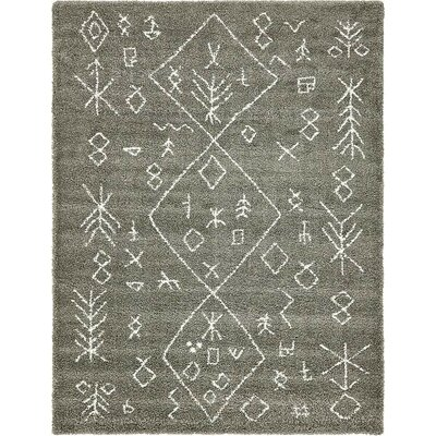 France Machine woven Gray Area Rug Rug Size: 9 x 12
