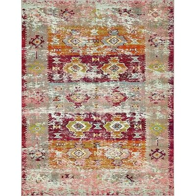 Gloucester Southwestern Pink Area Rug Rug Size: Rectangle 8' x 10'