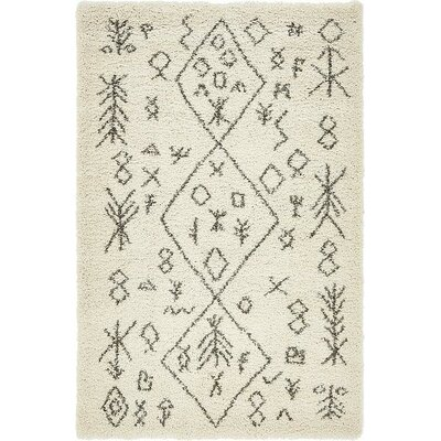 France Pure Ivory Area Rug Rug Size: Runner 27 x 6