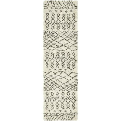 Bourne Machine woven  Ivory Area Rug Rug Size: Runner 27 x 10