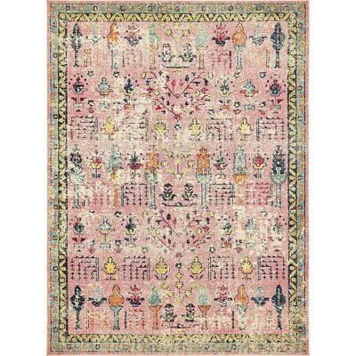 Boxborough Pink Area Rug Rug Size: 9' x 12'