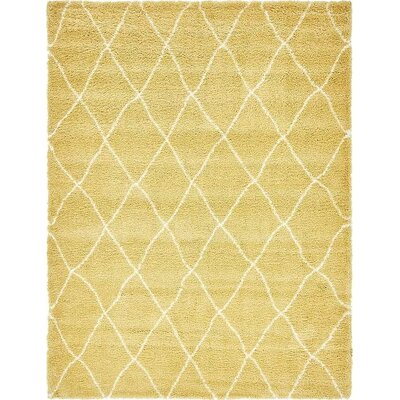 Cynthiana Yellow Area Rug Rug Size: Rectangle 9 x 12