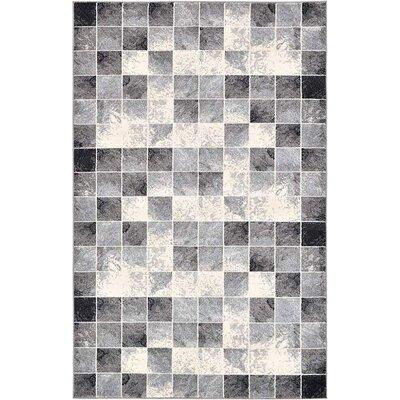 Jaina Light Gray Geometric Area Rug Rug Size: 5 x 8