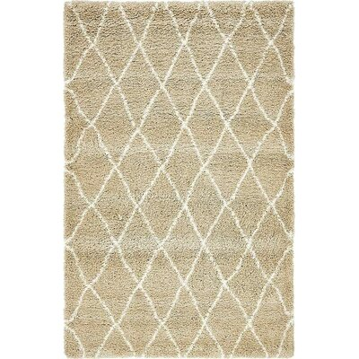 Cynthiana Taupe Area Rug Rug Size: Rectangle 5 x 8