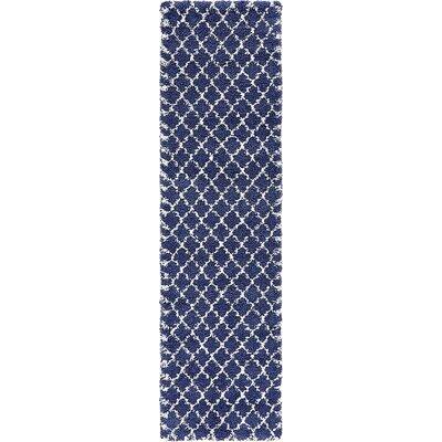 Cynthiana  Navy Blue Area Rug Rug Size: Runner 27 x 10