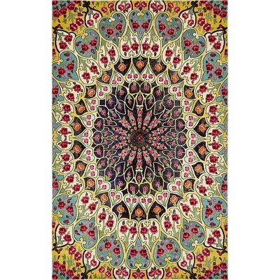 Newton Yellow Area Rug Rug Size: Rectangle 5 x 8