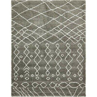 Bourne Machine woven  Gray Area Rug Rug Size: 9 x 12
