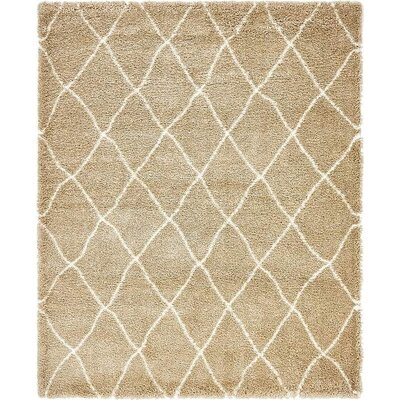 Cynthiana Taupe Area Rug Rug Size: Rectangle 8 x 10