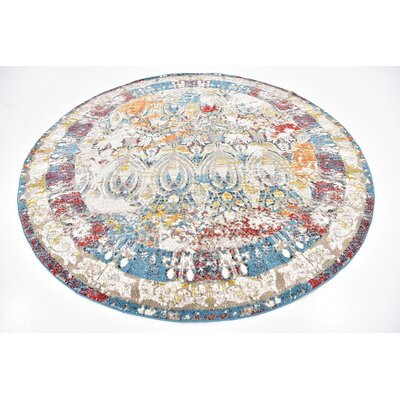 Hartell Multi Area Rug Rug Size: Round 8