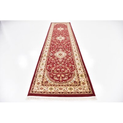 Anthonyson Burgundy/Cream Area Rug Rug Size: 6 7 x 9 10