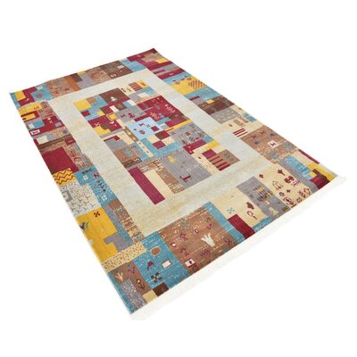 Rolling Hills Estates Yellow/Red/Brown Southwestern Area Rug Rug Size: Rectangle 43 x 6