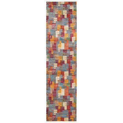 Rolling Hills Estates Rustic Yellow/Red/Blue Area Rug Rug Size: Runner 27 x 10