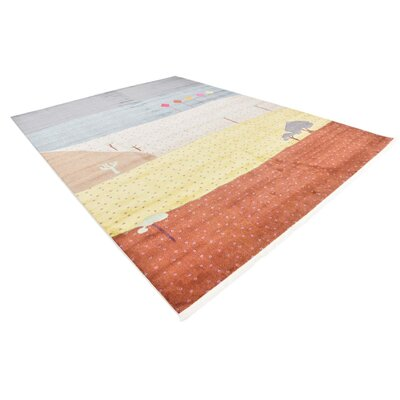 Rolling Hills Estates Gray/Yellow/Red Area Rug Rug Size: Rectangle 10 x 13