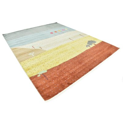 Rolling Hills Estates Gray/Yellow/Red Area Rug Rug Size: Rectangle 82 x 10