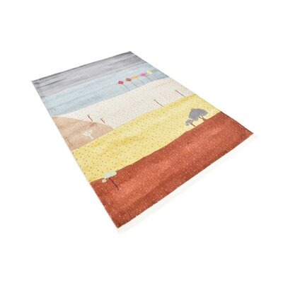 Rolling Hills Estates Gray/Yellow/Red Area Rug Rug Size: Rectangle 43 x 6