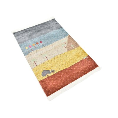 Rolling Hills Estates Gray/Yellow/Red Area Rug Rug Size: Rectangle 22 x 3