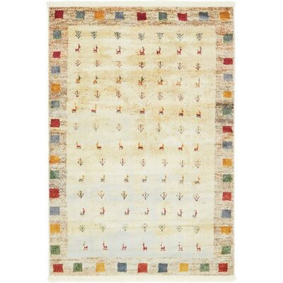 Rolling Hills Estates Cream Southwestern Area Rug Rug Size: Rectangle 43 x 6
