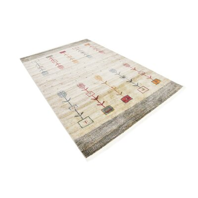 Rolling Hills Estates Rustic Cream Area Rug Rug Size: Rectangle 55 x 8