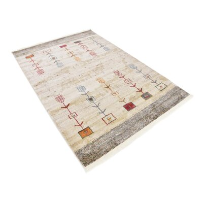 Rolling Hills Estates Rustic Cream Area Rug Rug Size: Rectangle 43 x 6