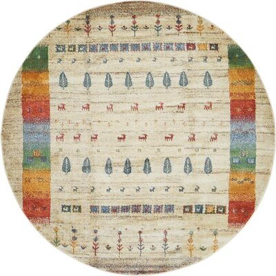 Rolling Hills Estates Rustic Gray Area Rug Rug Size: Round 5