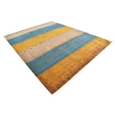Purington Blue/Yellow/Beige Area Rug Rug Size: Rectangle 82 x 10