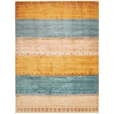 Purington Blue/Yellow/Beige Area Rug Rug Size: Rectangle 10 x 13