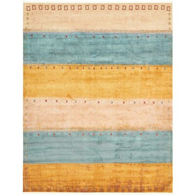 Purington Blue/Yellow/Beige Area Rug Rug Size: Rectangle 43 x 6