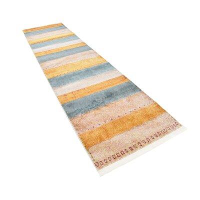 Purington Blue/Yellow/Beige Area Rug Rug Size: Runner 27 x 10