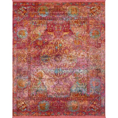 Regina Red Area Rug Rug Size: Rectangle 84 x 10