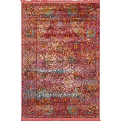 Regina Red Area Rug Rug Size: Rectangle 43 x 6