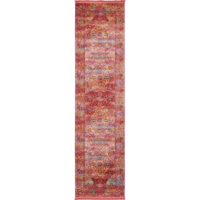 Regina Red Area Rug Rug Size: Runner 27 x 10