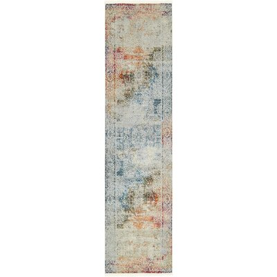 Lonerock Blue/Off-White Area Rug Rug Size: Runner 27 x 10