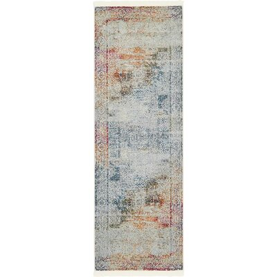 Lonerock Blue/Off-White Area Rug Rug Size: Runner 22 x 6