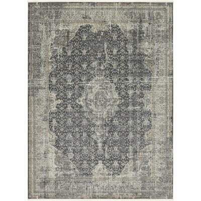 Lonerock Dark Gray Area Rug Rug Size: Round 55