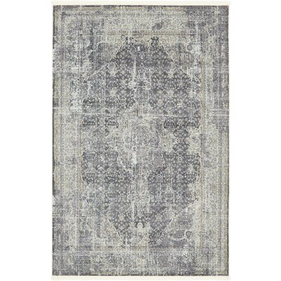 Lonerock Dark Gray Area Rug Rug Size: Rectangle 55 x 8