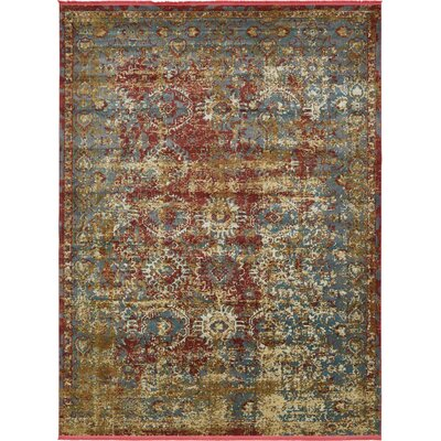 Lonerock Spanish Red/Green Area Rug Rug Size: Rectangle 22 x 3
