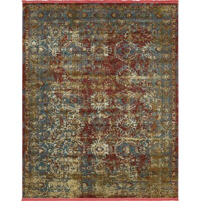 Lonerock Spanish Red/Green Area Rug Rug Size: Rectangle 84 x 10