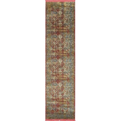 Lonerock Spanish Red/Green Area Rug Rug Size: Runner 27 x 10