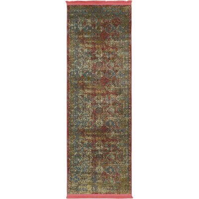 Lonerock Spanish Red/Green Area Rug Rug Size: Runner 22 x 6