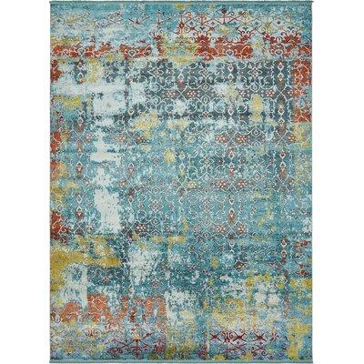Lonerock Blue Area Rug Rug Size: Rectangle 10 x 13