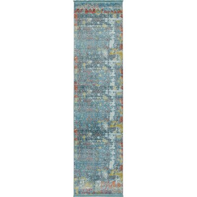Lonerock Blue Area Rug Rug Size: Runner 27 x 10