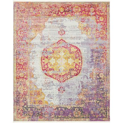 Lonerock Purple/Pink/Yellow Area Rug Rug Size: Rectangle 84 x 10