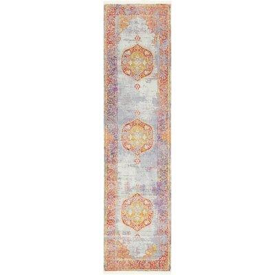 Lonerock Purple/Pink/Yellow Area Rug Rug Size: Runner 27 x 10