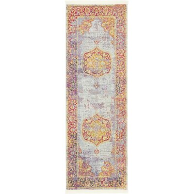 Lonerock Purple/Pink/Yellow Area Rug Rug Size: Runner 22 x 6
