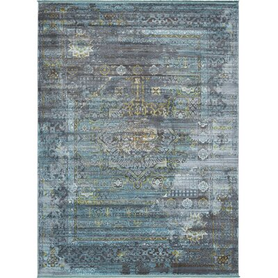 Lonerock Gray/Teal Area Rug Rug Size: Rectangle 10 x 13