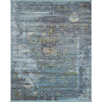 Lonerock Gray/Teal Area Rug Rug Size: Rectangle 84 x 10