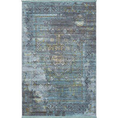 Lonerock Gray/Teal Area Rug Rug Size: Rectangle 55 x 8