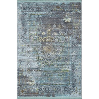 Lonerock Gray/Teal Area Rug Rug Size: Rectangle 43 x 6