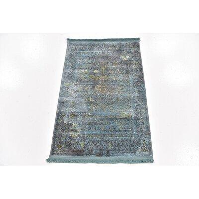 Lonerock Gray/Teal Area Rug Rug Size: Rectangle 22 x 3